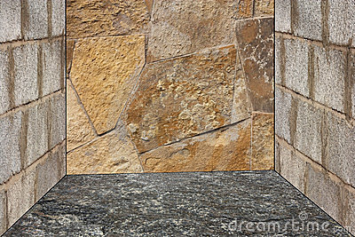 Unshaped stone wall pattern