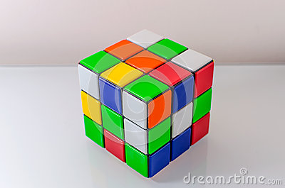 Unsolved Rubiks Cube Editorial Stock Image