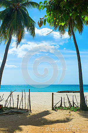 Unspoiled idyllic beach