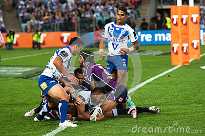 Unsuccessful attempt in rugby Editorial Photography
