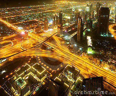 Unten Stadt von Dubai