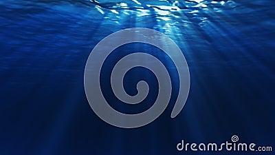 Unter Wasser-Dunkelheits-Schleife