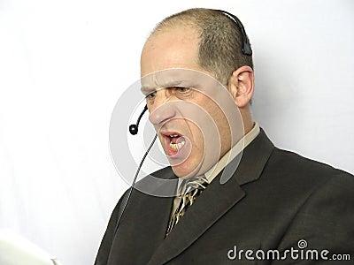 Unterhaltung am Telefon - verärgert