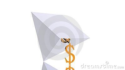 Unterstützende fallende Pyramide des leistungsfähigen Dollars
