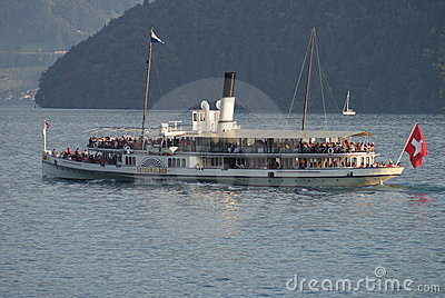 Unterwalden Paddle steamer Editorial Stock Photo