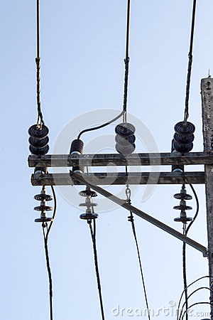 Untidy electricity lines