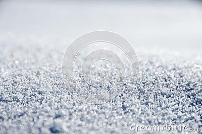 Untouched sparkling snow