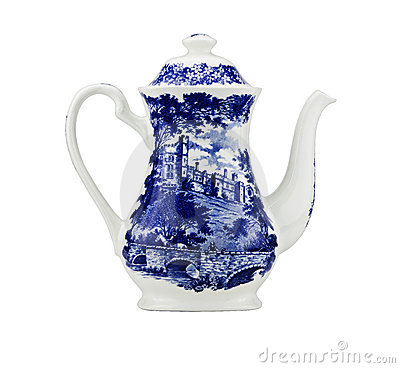 Unusual China teapot,isolated.