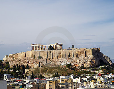 Unusual view of Parthenon