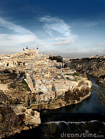 Unusual view of Toledo, Spain
