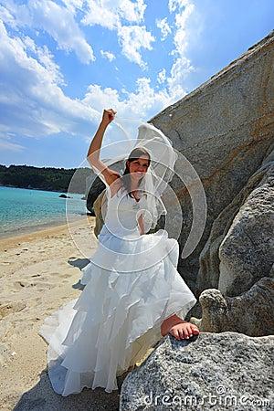 Unveiling bride portrait