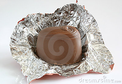 Unwrapped chocolate