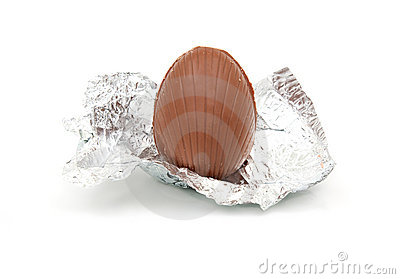 Unwrapped chocolate egg