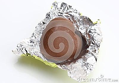 Unwrapped chocolates