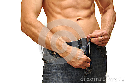 Unzip calças de brim