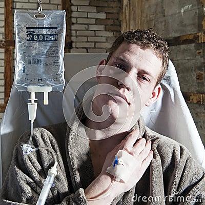Uomo ammalato