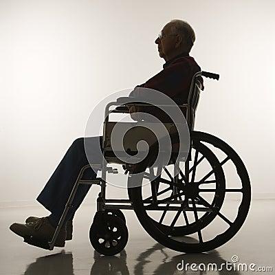 Uomo Anziano In Sedia A Rotelle Immagini Stock Immagine