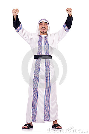 Uomo arabo isolato