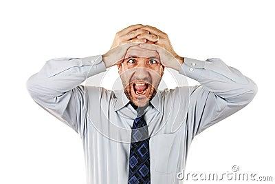 Uomo d affari che grida