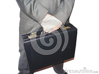 Uomo d affari con la cartella