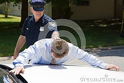 Uomo d affari nell ambito dell arresto