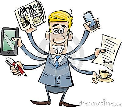 Uomo d affari occupato