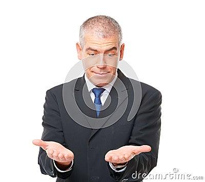 Uomo d affari stupito