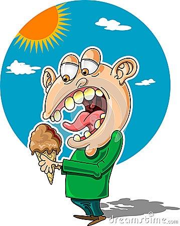 Uomo del gelato