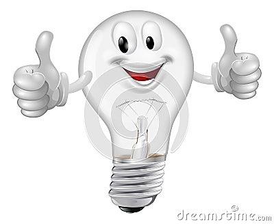 uomo lampadina : ... di un dare felice delluomo della lampadina del fumetto pollici in su