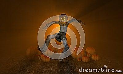 Uomo della zucca di Halloween