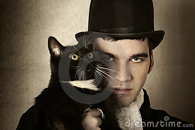 Uomo e gatto