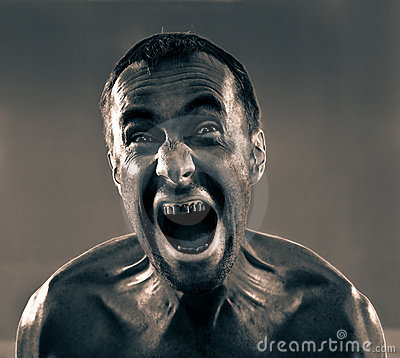 Uomo sporco di grido