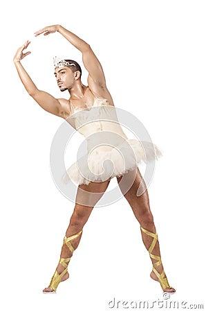 Uomo in tutu di balletto