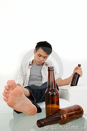 Uomo ubriaco