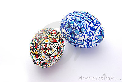 Uova di pasqua decorate fotografia stock immagine 9505780 - Uova decorate per pasqua ...