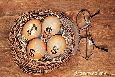 Uovo di nido di pensionamento