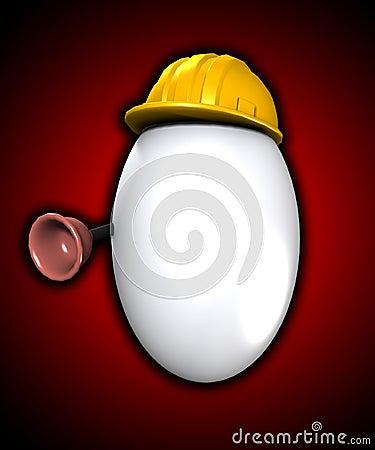 Uovo dell idraulico