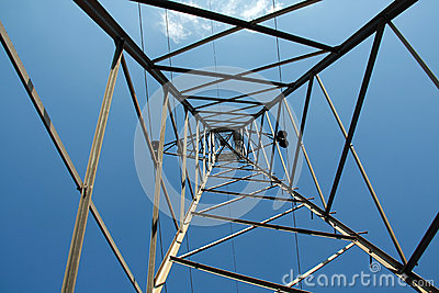Up the cable tower