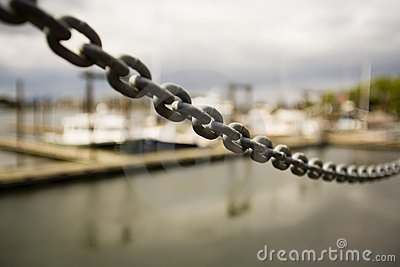 Up-Close Of Metal Chain