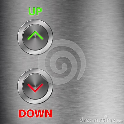Up and Down metalic button