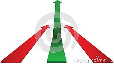 Up green arrow
