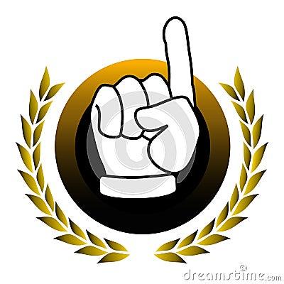 Up hand emblem