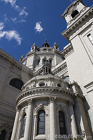 Free Up The Cathedral Of St. Paul St. Paul MN Royalty Free Stock Images - 1380519