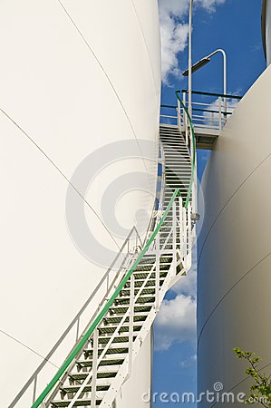 Up view of industry staircase