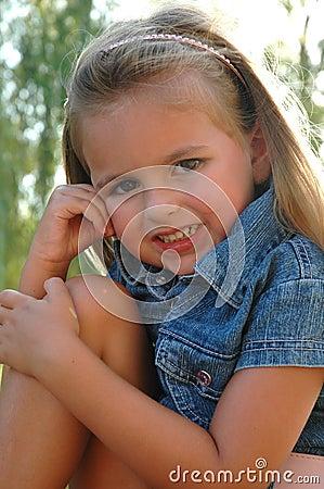 Upclose little girl