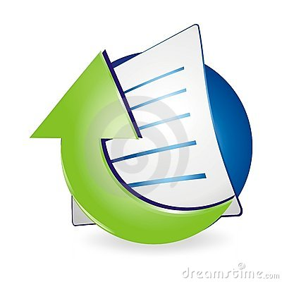 Free Upload Document Icon Royalty Free Stock Photos - 12922548