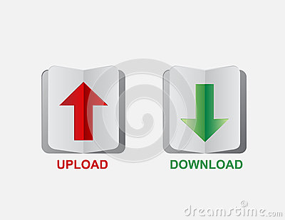 Upload download button