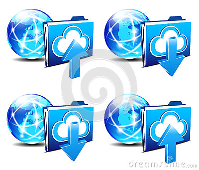 Upload Download folder communication Internet