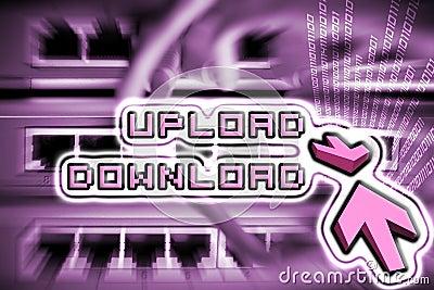 Upload and download internet