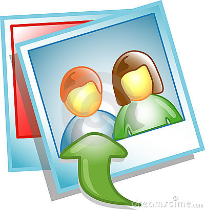 Free Upload Photo Icon Or Symbol Stock Image - 4089091